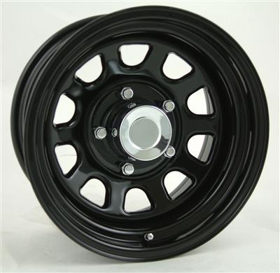 Steel Type D Window Black Tires